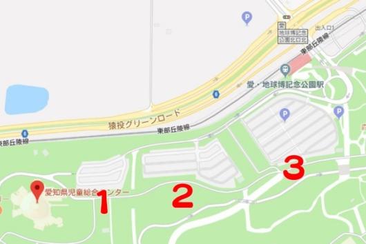 愛知県児童総合センター 駐車場