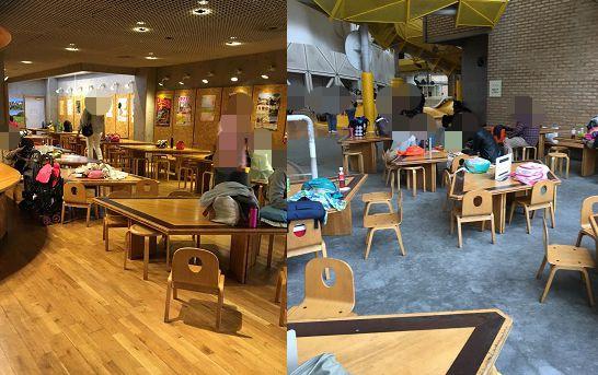 愛知県児童総合センターの飲食スペース