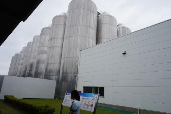 アサヒビール工場見学のタンク