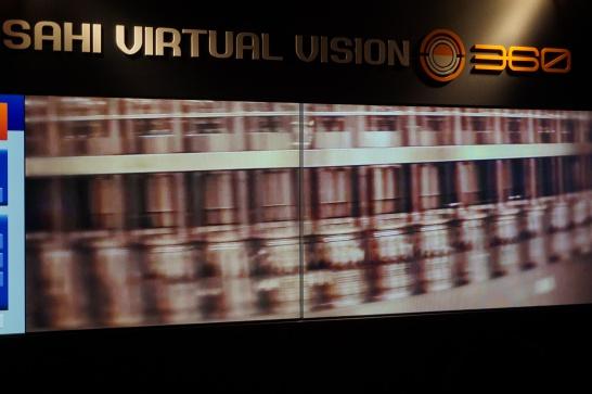 アサヒビール工場見学の設備の動画