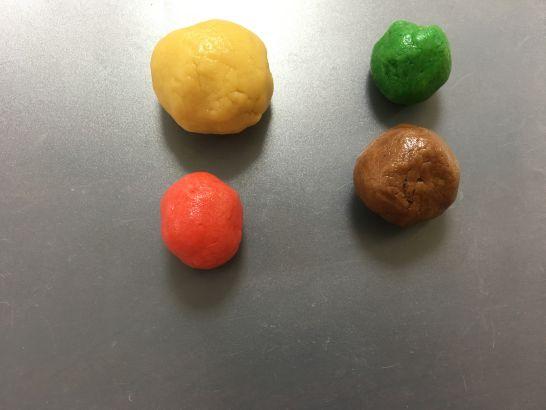 雨の日におすすめ、5歳、4歳、3歳とのクッキー作りの生地