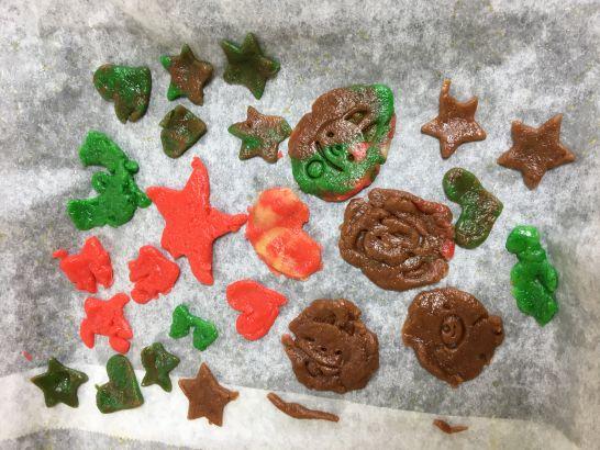 雨の日におすすめ、5歳、4歳、3歳とのクッキー作りのクッキー