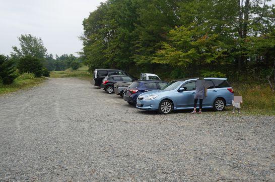 ハイジ牧場の駐車場