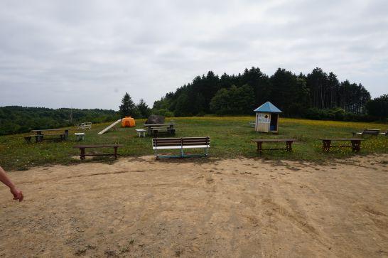 ハイジ牧場の思いっきり走り回れる広場と遊具