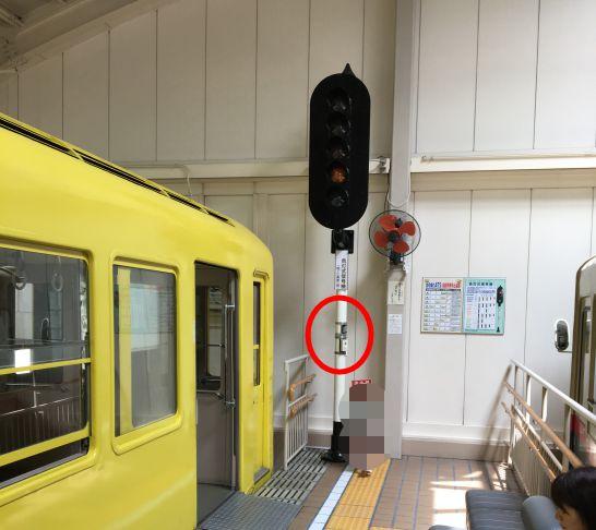 レトロでんしゃ館の信号機