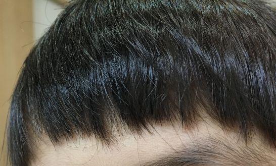 ヘアカット後の前髪