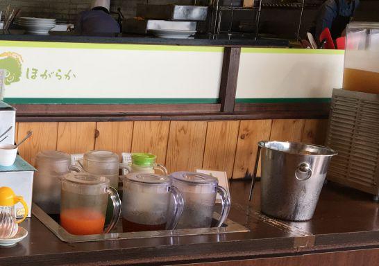 自然食ビュッフェ『ほがらか』のドリンクバーのメニュー