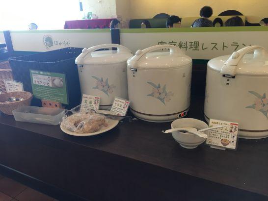 自然食ビュッフェ『ほがらか』のご飯は4修理(白米、七分米、玄米、減農薬米)