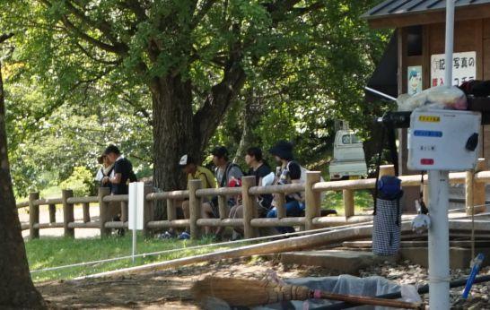松本アルプス公園のアルプスドリームコースターの見学場所