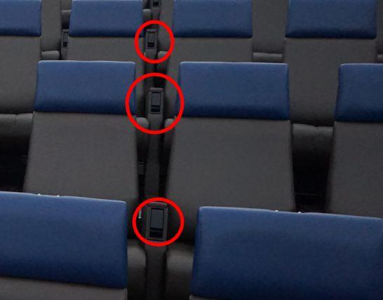 浜松科学館みらいーらのプラネタリウム・大型映像の座席のリクライニング