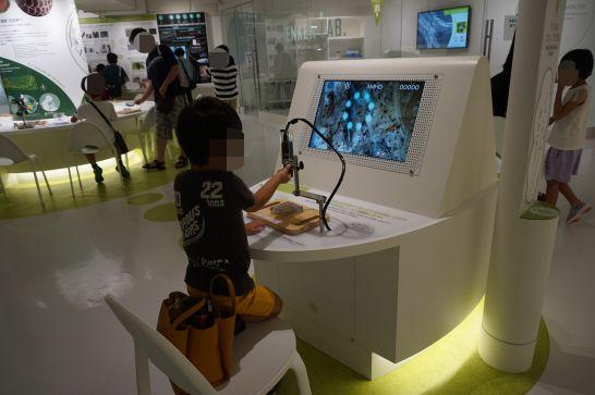 浜松科学館みらいーらの自然ゾーンの拡大鏡