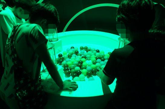 浜松科学館みらいーらの光のゾーンの色当てチャレンジ