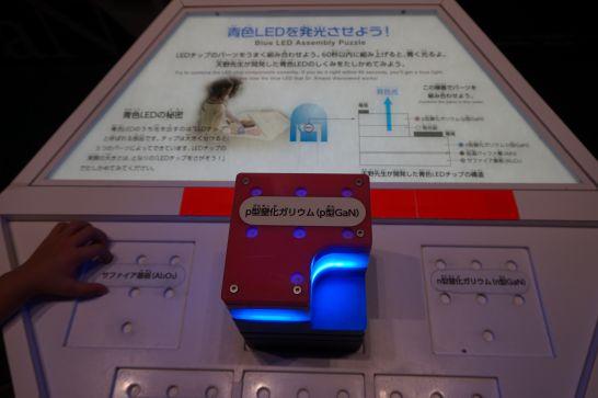 浜松科学館みらいーらの光のゾーンの青色発光ダイオードの仕組み