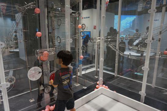 浜松科学館みらいーらの力ゾーンのアクティブ・パワー・コースター