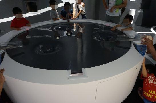 浜松科学館みらいーらの宇宙ゾーンのスイングバイ