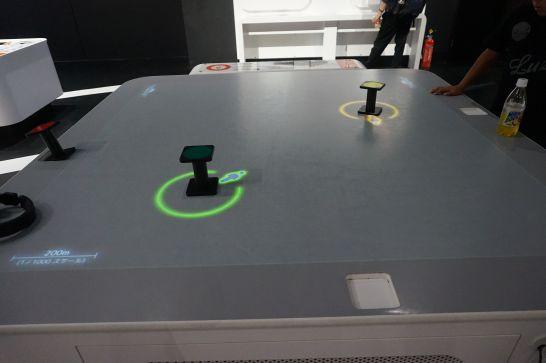 浜松科学館みらいーらの音ゾーンのドップラーテーブル