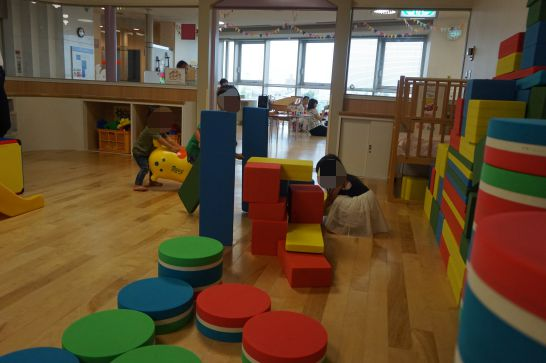 ドリームシアター岐阜の4階子どもエリアの大きいブロック