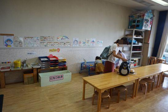 ドリームシアター岐阜の4階子どもエリアの工作コーナー