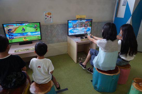 ドリームシアター岐阜の5階子どもエリアのゲームエリア
