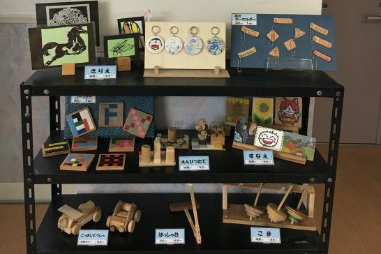 ドリームシアター岐阜の5階子どもエリアのクラフト作品