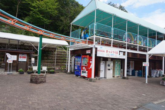 岐阜ファミリーパークのサイクルモノレール乗り場