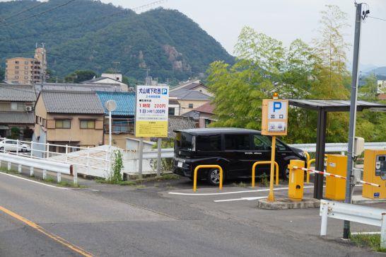 城下町も含めて4時間程度散策するなら、城下町外駐車場