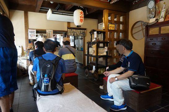 山田五平餅店の休憩室