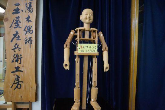 からくり展示館の触れるからくり人形