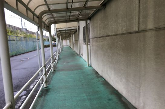 アルコ清州の外側の通路