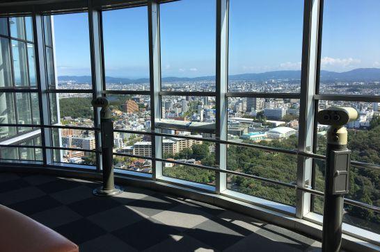 東山スカイタワー5階展望室の有料双眼鏡