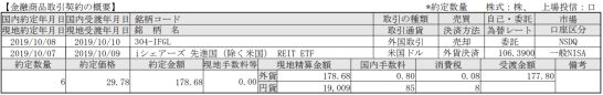 SBI証券の取引報告書