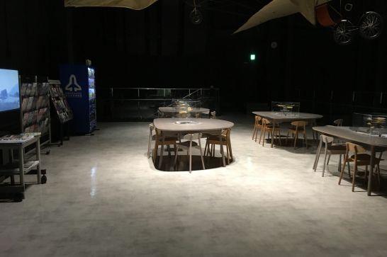 有料展示室内2階休憩スペース