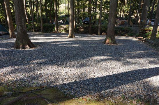 板取川温泉オートキャンプ場のサイト