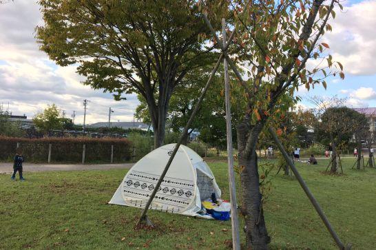 豊田スタジアムの芝生広場