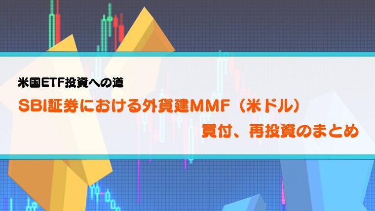 【米国ETF投資】SBI証券における外貨建MMF(米ドル)の買付、再投資のまとめ