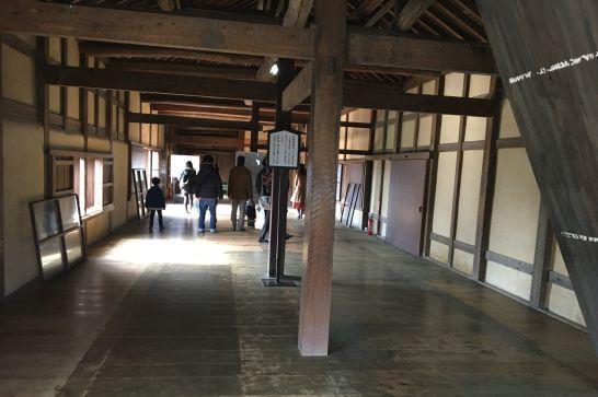 彦根城の天秤櫓の中