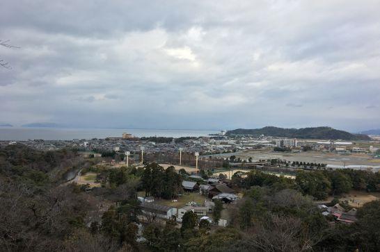 彦根城本丸から見る風景