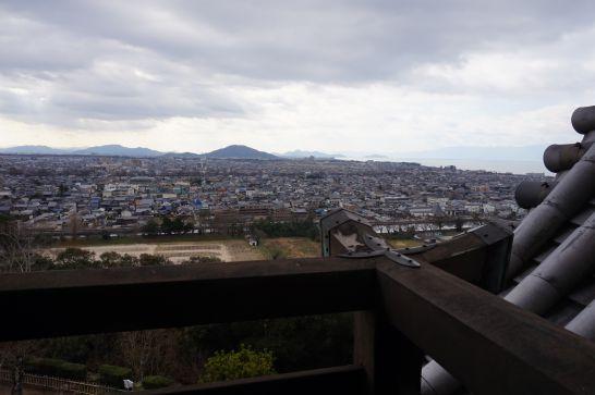 彦根城から見る彦根市