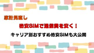 【家計見直し】スマホを格安SIMに乗り換えて通信費を安くしよう!