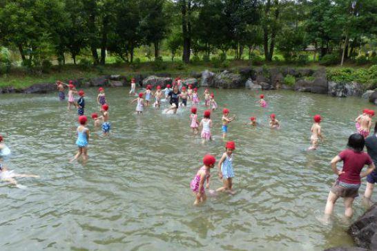 ぎふ清流里山公園のじゃぶじゃぶ池