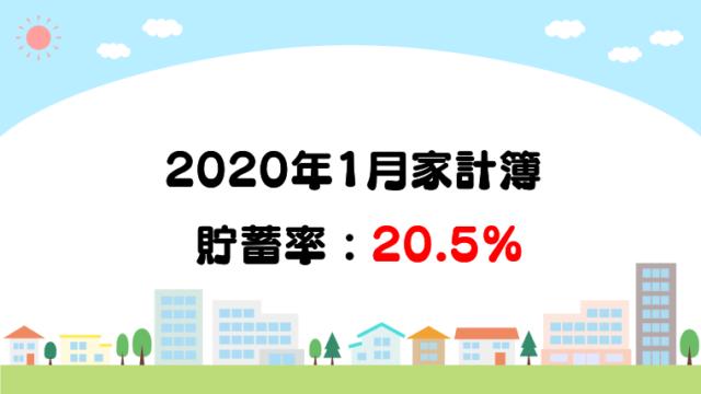 30代子育て世帯の2020年1月の家計簿&収支を公開。貯蓄率は20.5%。