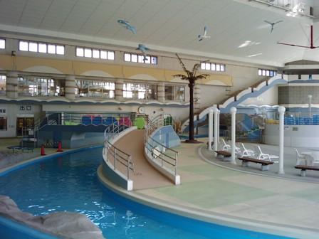 マーメイドパレスの屋内流水プール