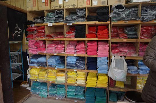 甲賀の里忍者村の貸衣装のカラーバリエーション