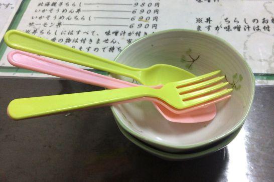 水口寿志亭市場の食堂の子供用食器