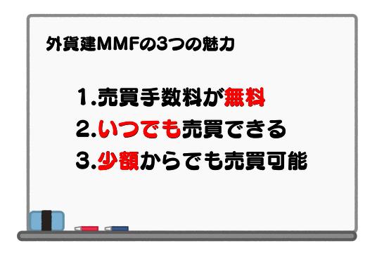 外貨建MMFの3つの魅力