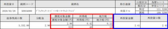 SBI証券の外貨建MMF再投資のご案内(兼)支払通知書
