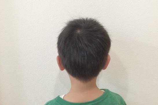Panasonicのカットモードの使用例:使用後(後髪)