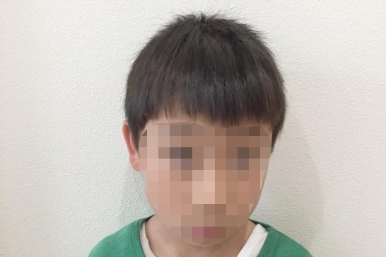 Panasonicのカットモードの使用例:使用後(前髪)