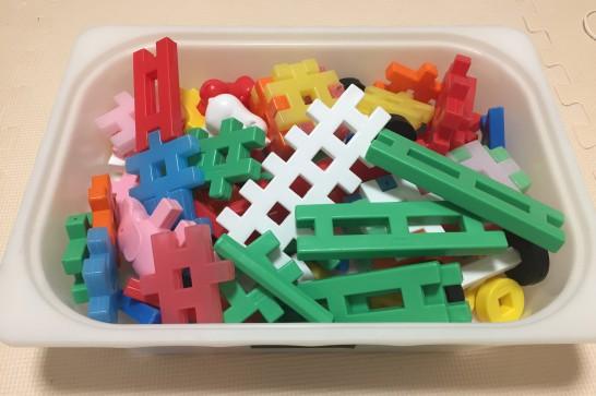1歳から遊べるニューブロックは想像力が育つ